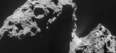 67P/C-G Comet on November 17, 2014 via ESA NavCam