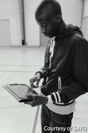 Young Man on a Tablet